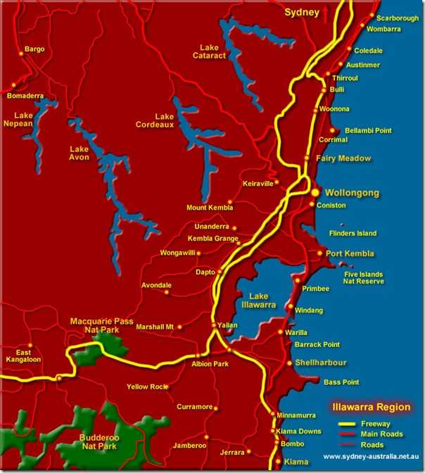 illawarra-wollongong-map