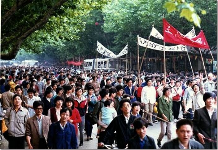 3Student Protesters, Shanghai, 1989