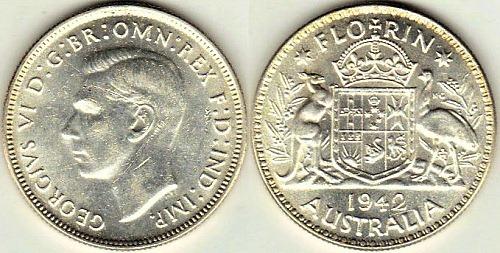 1942 Australia Florin copy